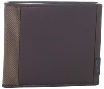 Tumi Men's Alpha Stripe Double Billfold Wallet, Brown, One Size