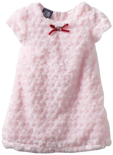 So La Vita Girls 2-6x Swirl Fur Dress, Pink, 2T