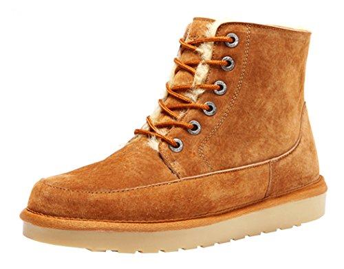 Rock Me Men'S Flak Ii Thick Fur Winter High Top Snow Boot(10.5 D(M) Us,Chestnut)