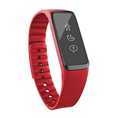 Striiv Fusion Activity and Sleep Tracker with Smart Watch Functions All, Red/Blue/Black