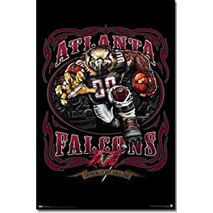 (22x34) Atlanta Falcons (Mascot, Grinding It Out Since 1966) Sports Poster Print by Poster Revolution