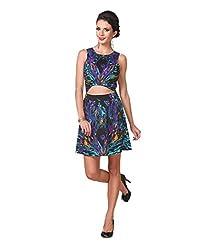 Zastraa Women's Dress (ZSTRDRESS0039_Multi_Large)