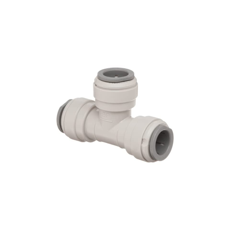 John Guest Acetal Copolymer Tube Fitting, Union Tee, 1/2 Tube OD (Pack of 10)
