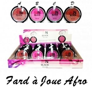 lot 4 BLUSH FARD A JOUE AFRO MARRON ROSE VIOLET MAQUILLAGE