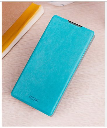 For Micromax Canvas Nitro A310 / A311 Accessories Premium LEATHER Flip Cover Case with Stand by MOFI - Blue