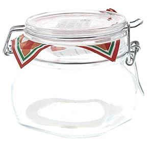 Bügelverschluss-Glas / Vorratsdose / Glasdose für 0,5 Liter