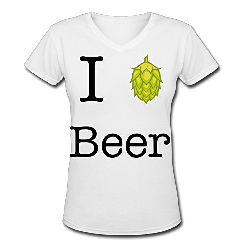 I Hop Beer V Neck 80's T Shirt For Woman Graphic T Shirts (Beer Glasses 1664 compare prices)