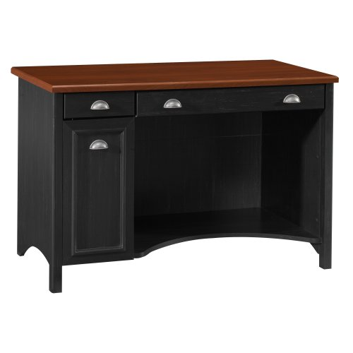 Bush Furniture Stanford Computer Desk, Antique Black/Hansen Cherry