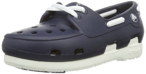 Crocs Unisex-Child Beach line PS Clogs 15915-462-121 Navy/White 10 UK Child, 27 EU, 10 US Child