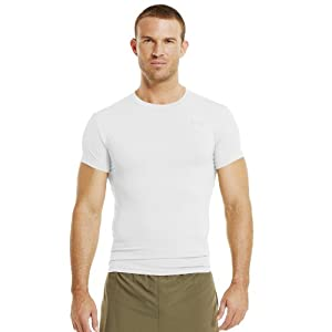 Under Armour Men's Tactical HeatGear® Compression Short Sleeve T-Shirt Large White