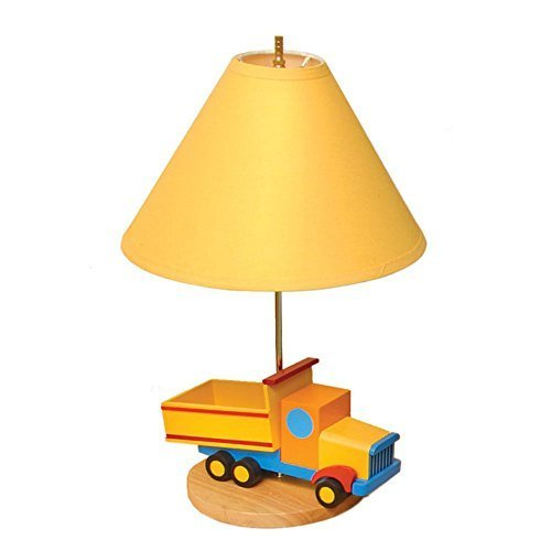 Yellow Dump Truck Children's Lamp (Dump Truck Lamp compare prices)