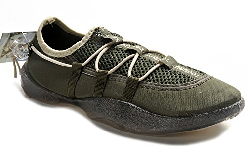 Tosbuy Man's Slip on Water Shoes,beach Aqua, Outdoor, Running, Athletic, Rainy, Skiing, Climbing, Dancing, Car Shoes for Men & Women 42 EU (9.5 M US Men), Dark Green)
