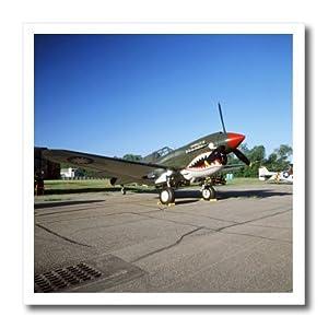 ht_91283_2 Danita Delimont - War Planes - Curtiss P-40 Warhawk, war plane - US24 BFR0044 - Bernard Friel - Iron on Heat Transfers - 6x6 Iron on Heat Transfer for White Material