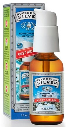 Sovereign Silver First Aid Gel - 1 Oz (Pack of 3)