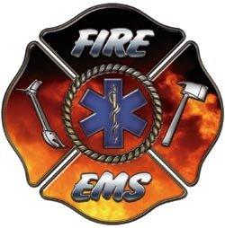 Fire EMS/EMT Maltese Cross Decal - 2