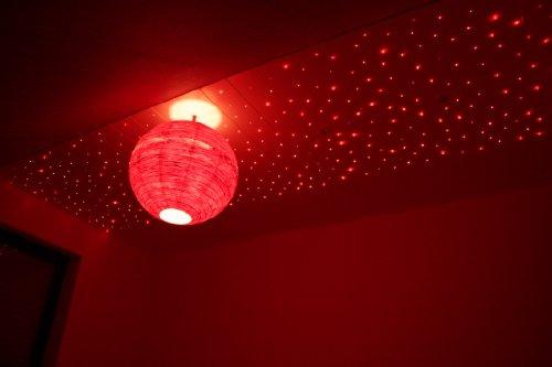 12-Watt-Sternenhimmel-LED-Set-Beleuchtung-Twin-Star-580-Lichtfaser-380-x-075mm-und-200-x-10mm-inkl-Projektor-Funkfernbedienung-fr-Farbwechsel-dimmbar-Sprhkleber-Bohrer-Set-und-20-Endkappen-fr-die-Mont