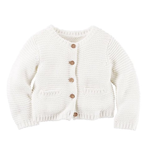 Carter's Baby Girls Layering 126g255, Ivory, 3M