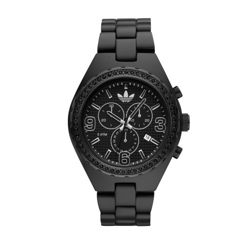 Adidas Unisex 44mm Black and Glitz Cambridge Chronograph Watch Adh2572