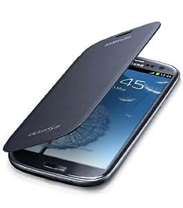 Samsung EFC-1G6FN Etui à rabat en Simili Cuir pour Galaxy S3 I9300 Noir