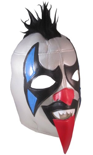 PSYCHO CIRCUS Adult Lucha Libre Wrestling Mask (pro-fit) Costume Wear - Black