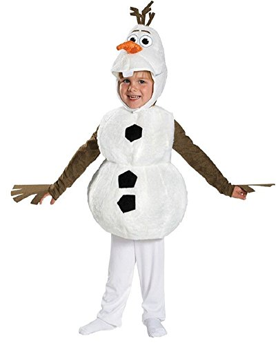 Disney Frozen Olaf Deluxe Toddler Costume Snowman 3 3t 4 4t