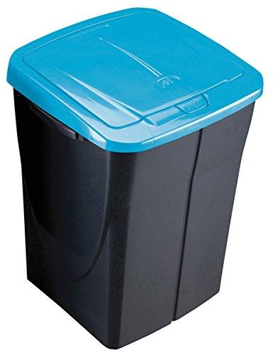 Mondex PLS 8087-19 45 l, in plastica, cestino dei rifiuti da cucina, con coperchio, 36 x 92 x 51 cm, Bleu tropic, 45 L