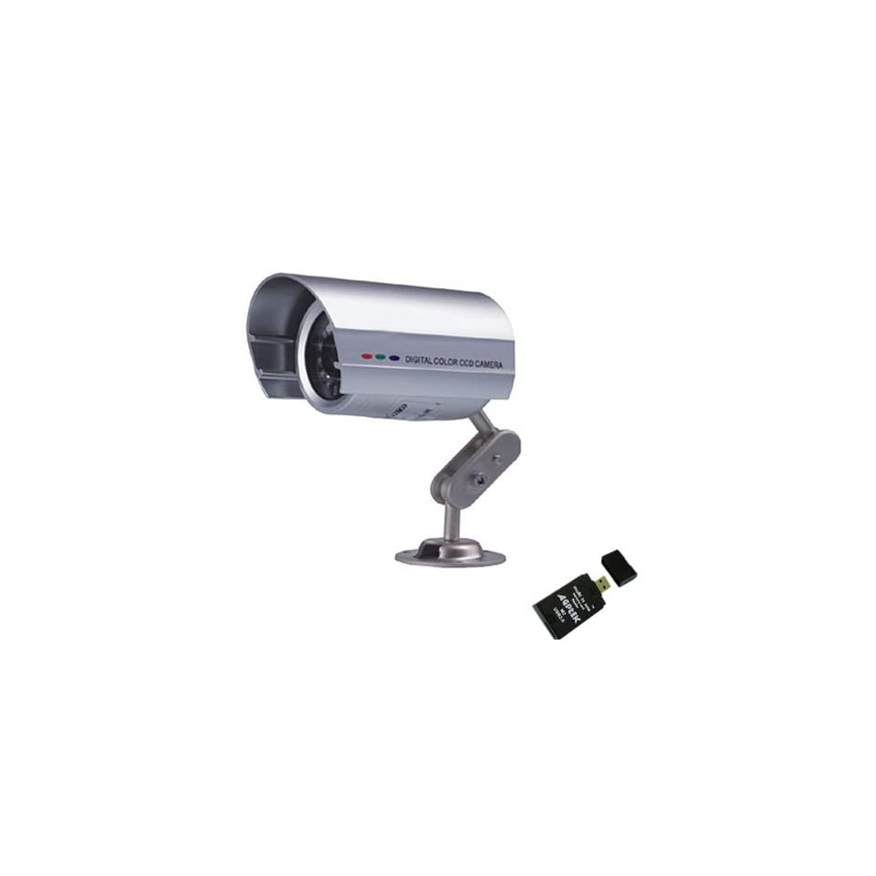 Digital Color CCD Camera Outdoor CCTV Surveillance 1/4 SHARP CCD 36 IR LEDs Night Version Plus AGPtek USB 2.0 All in one Card Reader
