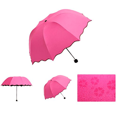 Sun Shining Pack Umbrella >> Century Star Waterproof Windproof Compact Portable Anti UV Foldable Umbrella Rose Red