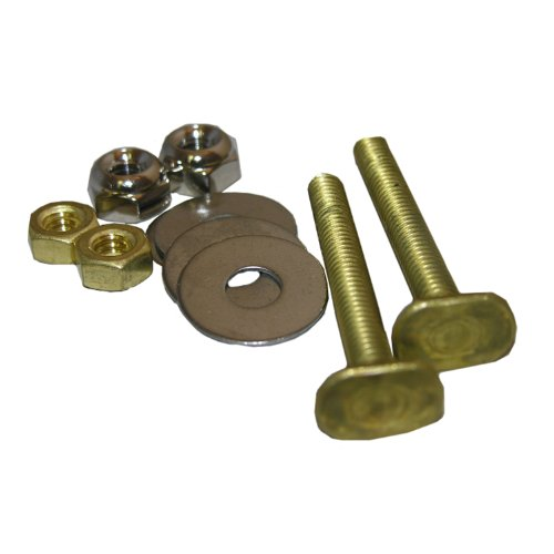 Lasco 04-3637 Solid Brass 1/4-Inch by 2-1/4-Inch Code Approved with 1/4-Inch Acorn Nuts and Stainless Steel Washers Toilet Bolts