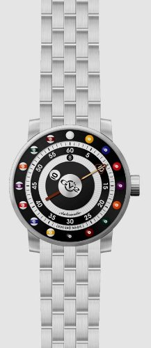 GV2 BY GEVRIL GIRONDOLO 8-BALL BILLIARDS SWISS AUTOMATIC WATCH 4034B