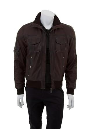 Hommes Blouson Style Classique Veste en cuir - Reberto