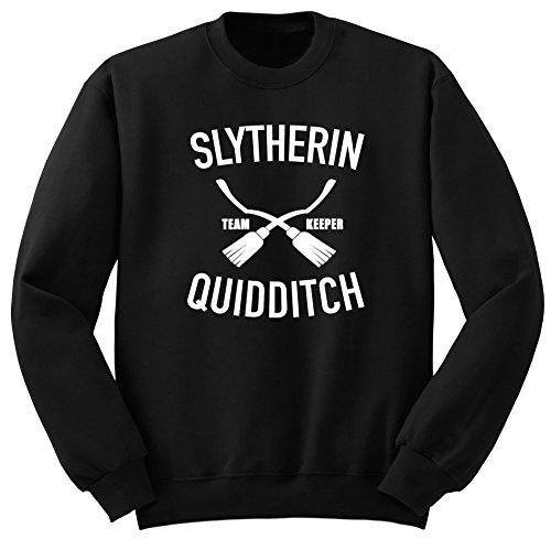 Slytherin Quidditch / Harry Potter / Potter / Harry Potter Felpa / SW75 (L, Nero)
