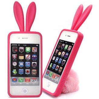 一番人気韓国ブランド『rabito』うさぎの耳 iPhone アクセサリー ケース カバー バニー ブラック