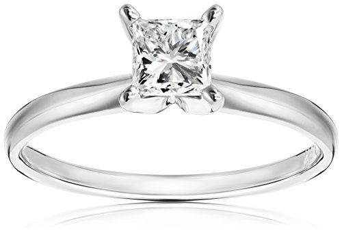 IGI-Certified-18k-White-Gold-Classic-Princess-Cut-Diamond-Engagement-Ring-34-carat-H-I-Color-SI1-SI2-Clarity