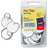 Avery : Metal Rim Key Tags, Card Stock/Metal, White, 50 per Pack -:- Sold as 2 Packs of - 50 - / - Total of 100 Each