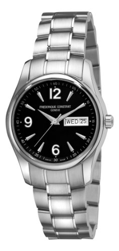 Frederique Constant Men's FC-242B4B26B Junior Black Day Date Dial Watch