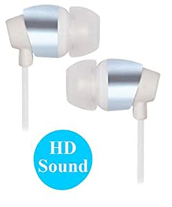 Premium 3.5mm In Ear Bud Stereo Earphones Headset Compatible For Micromax X072 -White