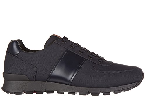 Prada scarpe sneakers uomo in nylon nuove spazzolato blu EU 41 4E2718_OLS_F0008
