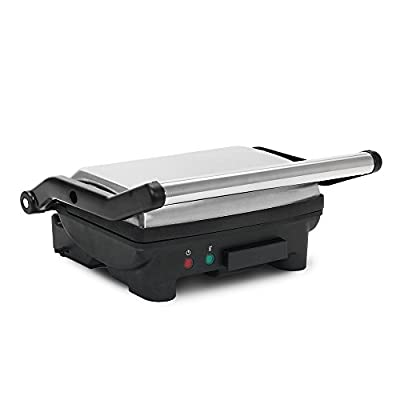 Elite EPN-2976 Cuisine Panini 180 Degree Indoor Contact Grill, Black from Elite