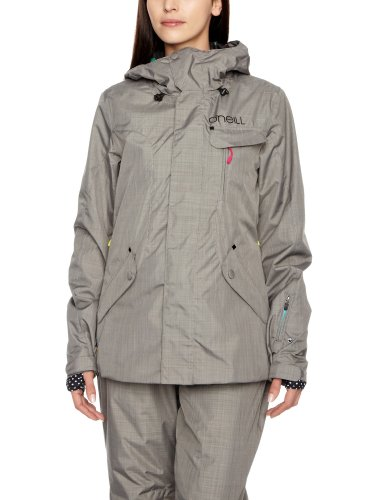 O'Neill Explore Rainbow Moon Women's Coat Charcoal Grey Large