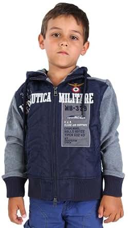 Aeronautica Militare Boys transition Jacket Blue / Grey GIACCA FELPA