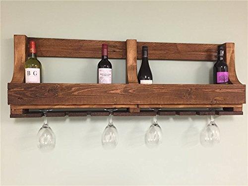 Handgefertigt-Rustikal-wieder-Palette-Holz-Weinregal-12-Flaschen-und-8-Glser-zexum