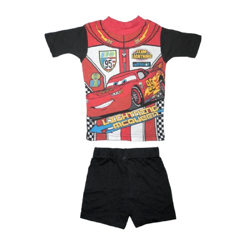 2 PCS SET: Disney Cars Boys Or Girls Sleepwear Pajama Short Sleeve Top & Shorts Set