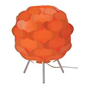 Recycled Glass Table Lamp In Melon Mararun