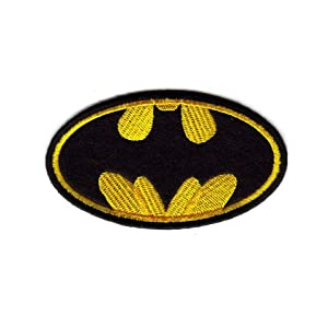 10pcs Batman Logo Embroidered Iron on Patch Applique Superhero TOP quality guarantee from Deco Mall