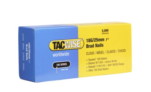 Tacwise 0396 18G/ 25mm Nails (Box of 5000)