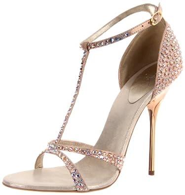 Giuseppe Zanotti Women's I20109 Ankle-Strap Sandal,Polaris,5 M US