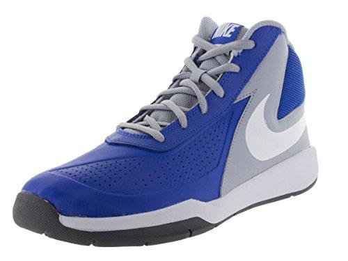 Nike Kids Team Hustle D 7 (GS) Game Royal/White/Wlf Grey/Blck Basketball Shoe 6 Kids US