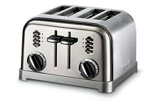 Cuisinart CPT-180BCH Metal Classic 4-Slice Toaster, Black Chrome