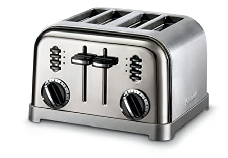 Cuisinart Metal Classic 4-Slice Toaster, Black/Chrome(CPT-180BCH)